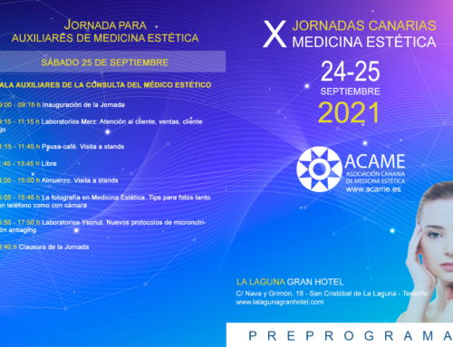 PREPROGRAMA (actualizado a 03/08/2021) de las X Jornadas Canarias de Medicina Estética