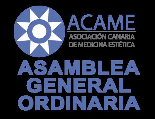 CONVOCATORIA DE LA ASAMBLEA GENERAL ORDINARIA DE LA ASOCIACIÓN CANARIA DE MEDICINA ESTÉTICA